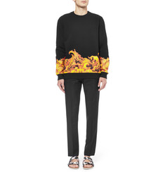 Givenchy Flame-Print Cotton Sweatshirt