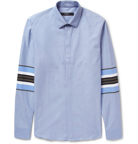 Givenchy Printed-Stripe Oxford Shirt