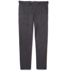 Folk Grey Woven-Cotton Suit Trousers