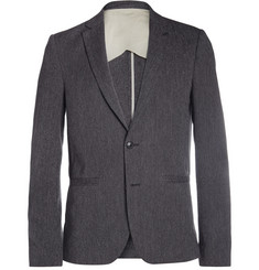 Folk Grey SLim-Fit Woven-Cotton Suit Jacket