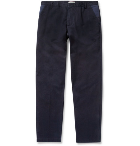 Folk Tapered Cotton-Twill Trousers