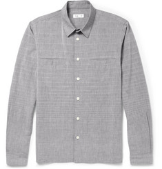 Folk Slim-Fit Stitched Cotton Shirt