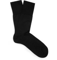 Falke Black Merino Wool-Blend Socks