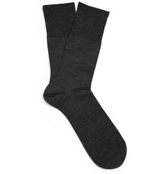 Falke Charcoal Merino Wool-Blend Socks