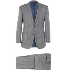 Richard James Prince Of Wales Check Worsted-Wool Suit