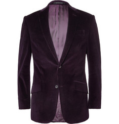 Richard James Purple Slim-Fit Corduroy Suit Jacket