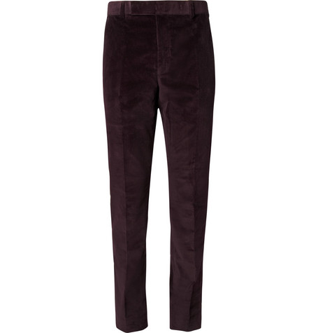 Richard James Purple Corduroy Suit Trousers