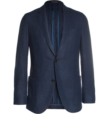 Richard James Slim-Fit Wool, Cotton and Cashmere-Blend Blazer