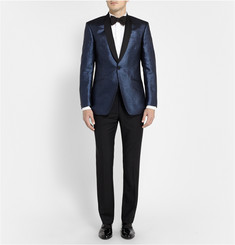 Richard James Blue Metallic-Flecked Blazer