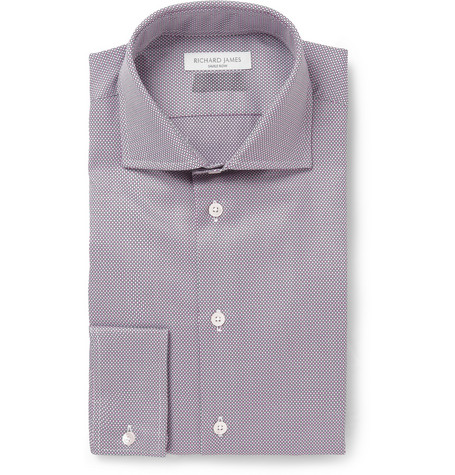 Richard James Slim-Fit Patterned Cotton Shirt