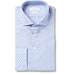 Richard James Blue Printed Cotton-Poplin Shirt