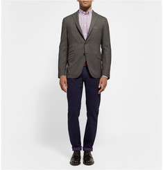 Richard James Check Cotton-Poplin Shirt