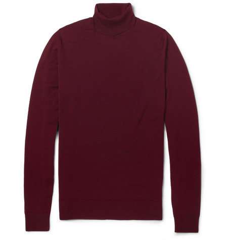 John Smedley Belvoir Merino Wool Rollneck Sweater