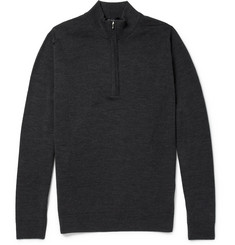 John Smedley Wyvern Zip-Collar Merino Wool Sweater