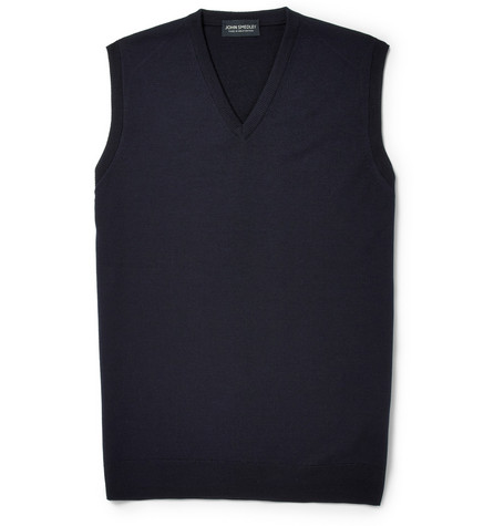 John Smedley Turner Merino Wool Sleeveless Sweater