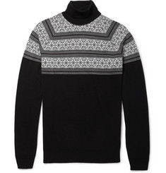 John Smedley Miguel Fair Isle Fine-Knit Merino Wool Sweater