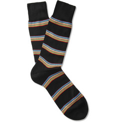 Paul Smith Shoes & Accessories Striped Mercerised Cotton-Blend Socks