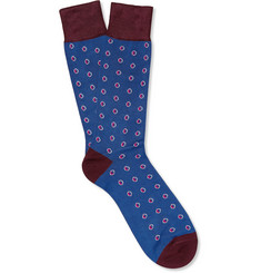 Paul Smith Shoes & Accessories Half Moon Cotton-Blend Socks