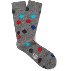 Paul Smith Shoes & Accessories Polka Dot Wool-Blend Socks