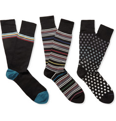Paul Smith Shoes & Accessories Boxed Three-Pack Patterned Socks