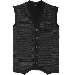 Dunhill Patterned Knitted Cashmere and Silk-Blend Sleeveless Sweater