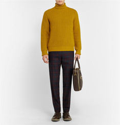 Alfred Dunhill Ribbed-Knit Rollneck Wool Sweater