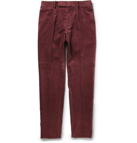 Alfred Dunhill Slim-Fit Corduroy Trousers