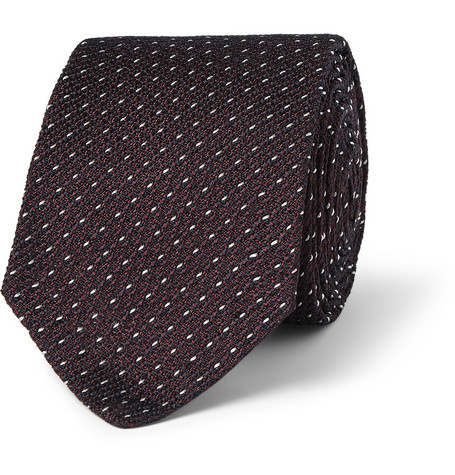 Alfred Dunhill Patterned Mulberry Silk Tie