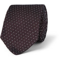 Dunhill - Patterned Mulberry Silk Tie
