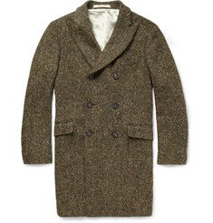 Massimo Alba Double-Breasted Tweed Coat