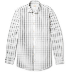 Massimo Alba Checked Cotton-Poplin Shirt