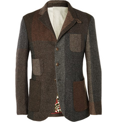 Incotex Unstructured Wool-Blend Tweed Blazer