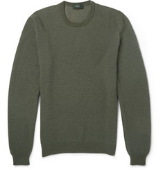 Incotex Zanone Wool and Cashmere-Blend Sweater