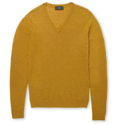 Incotex Zanone Fine-Knit Camel Sweater