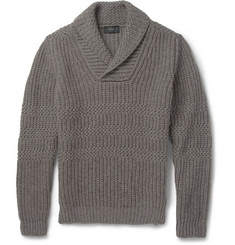 Incotex Zanone Zig-Zag Knit Wool and Yak-Blend Sweater