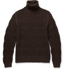 Incotex Zanone Textured-Knit Wool Rollneck Sweater