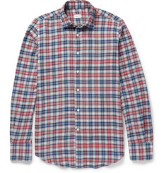 Incotex Glanshirt Check Brushed Cotton-Flannel Shirt