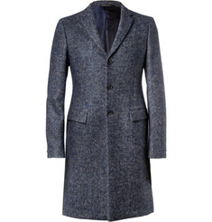 Jil Sander Herringbone Wool, Alpaca and Mohair-Blend Overcoat