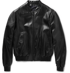 Jil Sander Caracas Leather Bomber Jacket