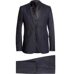 Jil Sander Navy Slim-Fit Flecked-Wool and Mohair-Blend Suit