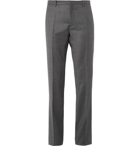 Jil Sander Slim-Fit Wool and Cashmere-Blend Flannel Trousers