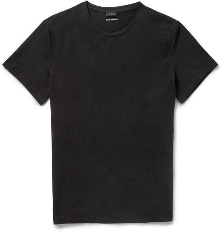 Jil Sander Crew Neck Cotton-Blend Jersey T-Shirt