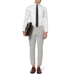 Thom Browne Button-Down Collar Cotton Oxford Shirt
