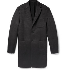 Balenciaga Degradè Brushed-Wool and Angora-Blend Overcoat