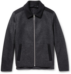 Balenciaga Panelled Wool Bomber Jacket