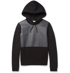 Balenciaga Coated-Panel Fleece-Back Cotton-Jersey Hoodie