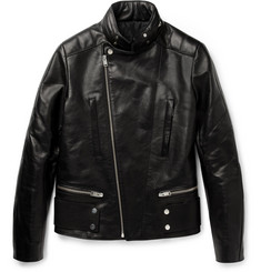 Balenciaga Hooded Leather Biker Jacket