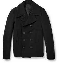 Balenciaga Slim-Fit Wool-Blend Peacoat