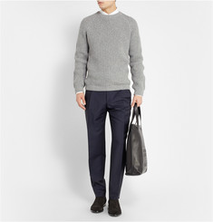 Balenciaga Pleat-Front Wool and Mohair-Blend Trousers