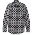 Balenciaga Printed Slim-Fit Cotton Shirt